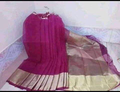অরিজিনাল  হাফ সিল্ক শাড়ি, কমলনগর