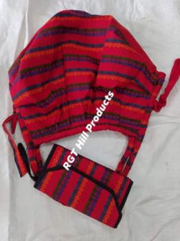 মারমা থামি কাপড় এর ঝোলা ব্যাগ ও ৩পার্ট পার্স